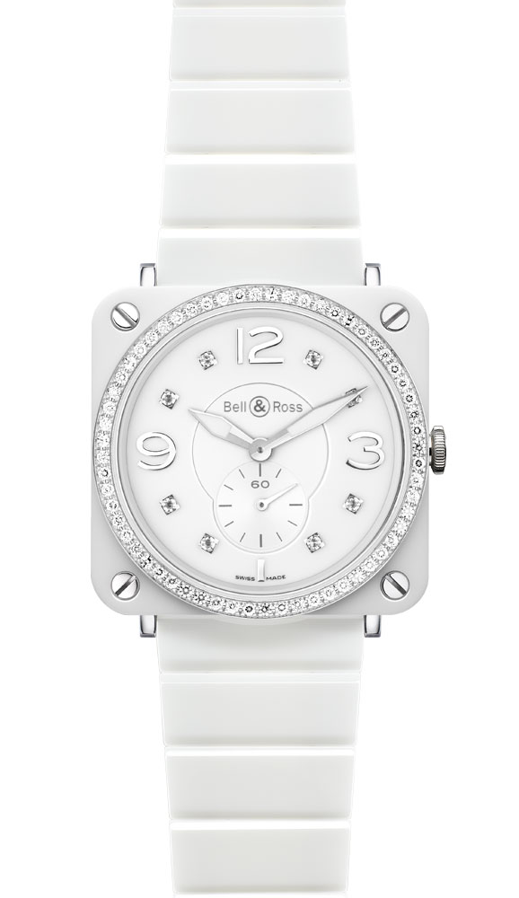 часы Bell & Ross White Ceramic Phantom Diamonds