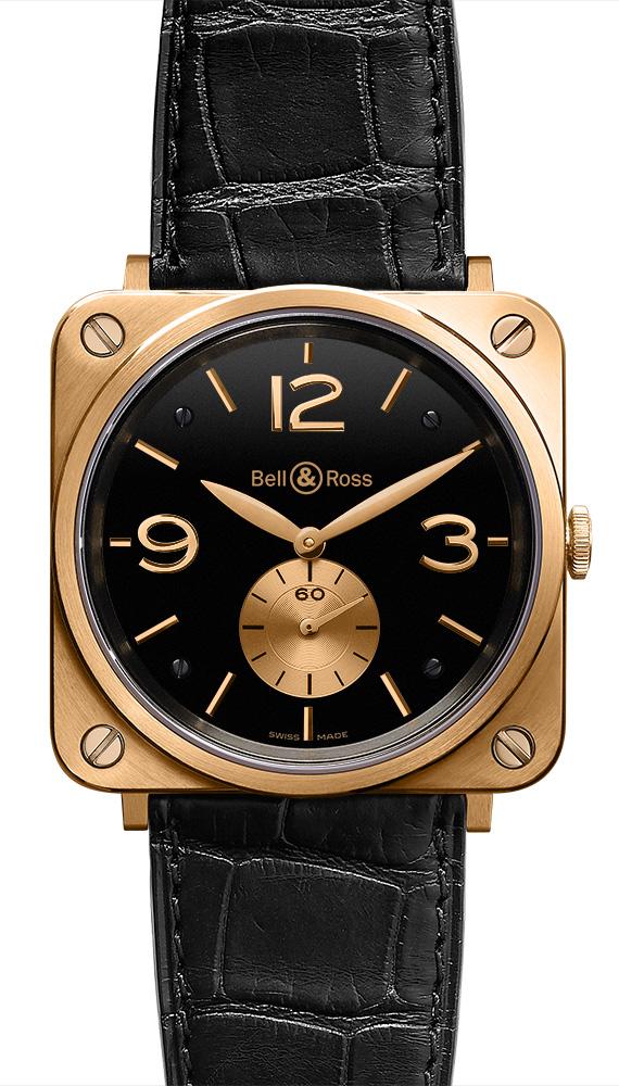часы Bell & Ross Gold Black Dial