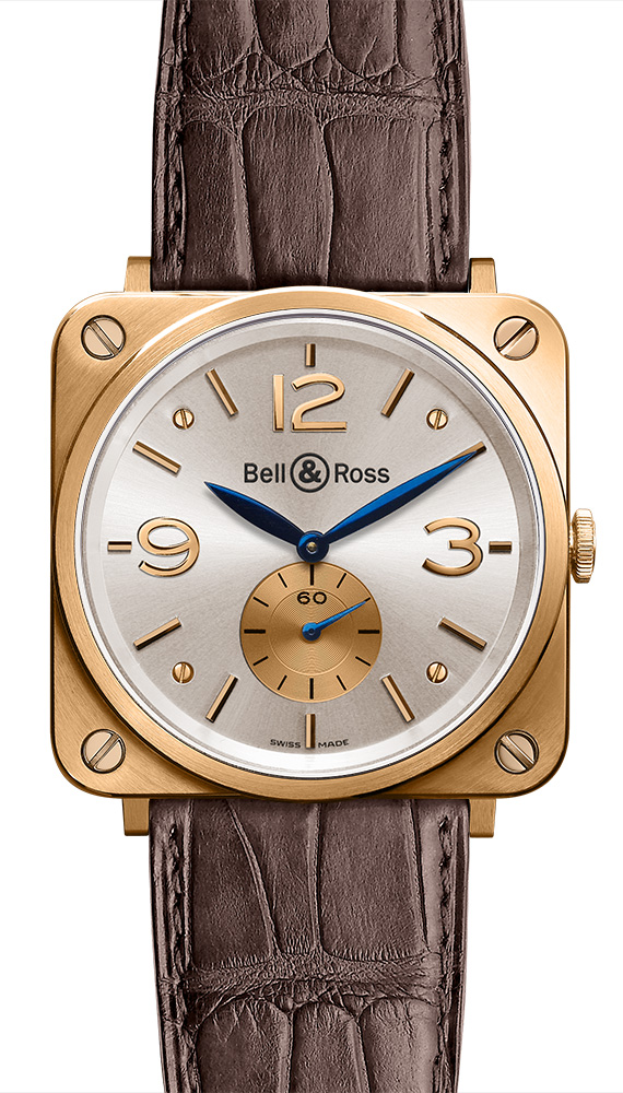 часы Bell & Ross Gold Silver Dial
