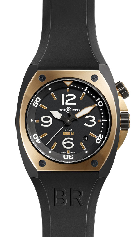 ���� Bell & Ross Pink Gold Carbon Finish