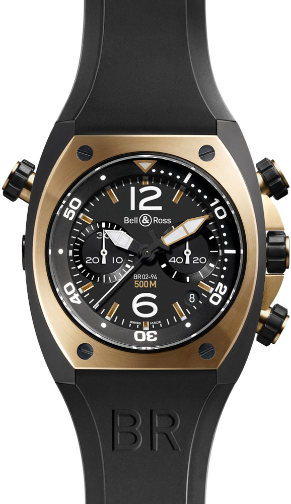 часы Bell & Ross Chronograph Pink Gold & Carbon Finish