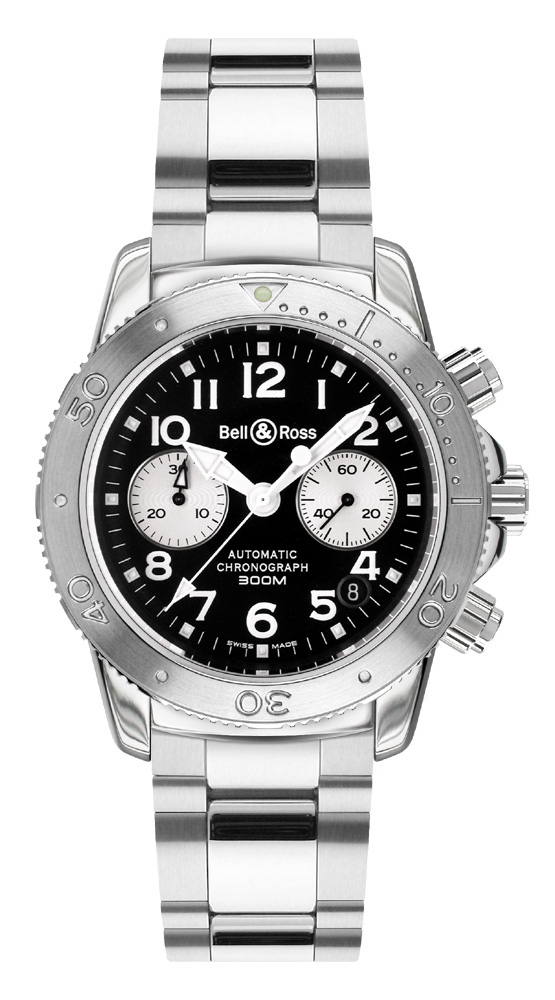 часы Bell & Ross Diver 300 Black & White