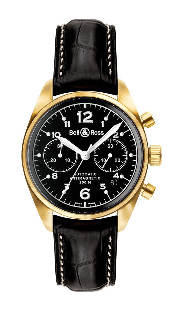 часы Bell & Ross Vintage 126 Gold Black