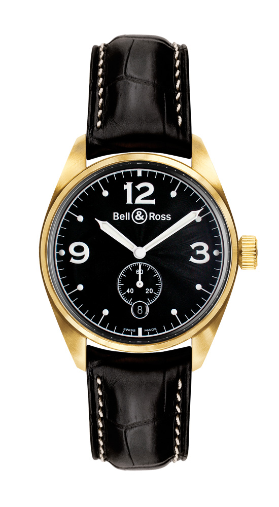 часы Bell & Ross Vintage 123 Gold Black