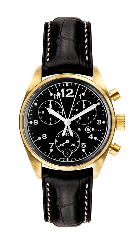 часы Bell & Ross Vintage 120 Gold Black