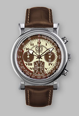 часы Cuervo y Sobrinos Torpedo Pulsómetro