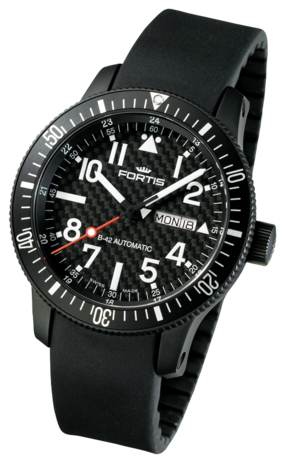 часы Fortis B-42 BLACK AUTOMATIC DAY/DATE