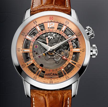часы Vulcain Anniversary Heart Steel