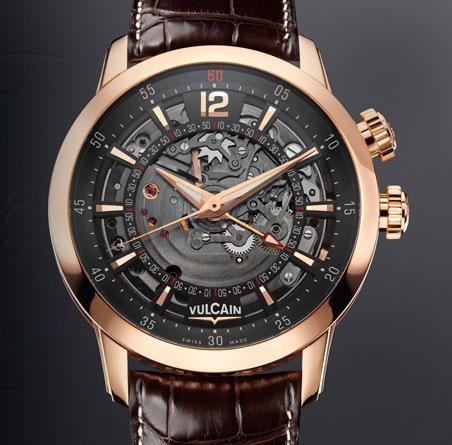 часы Vulcain Anniversary Heart Gold