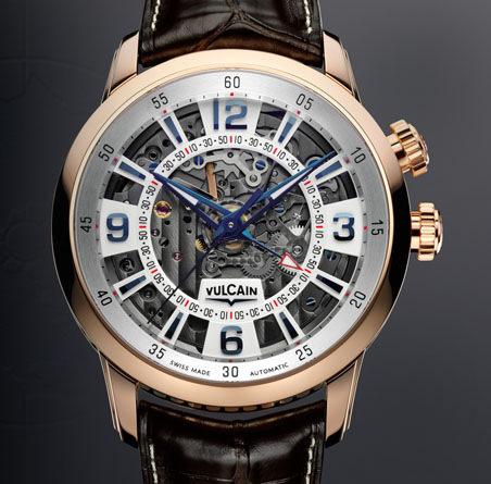 часы Vulcain Anniversary Heart Automatic Gold