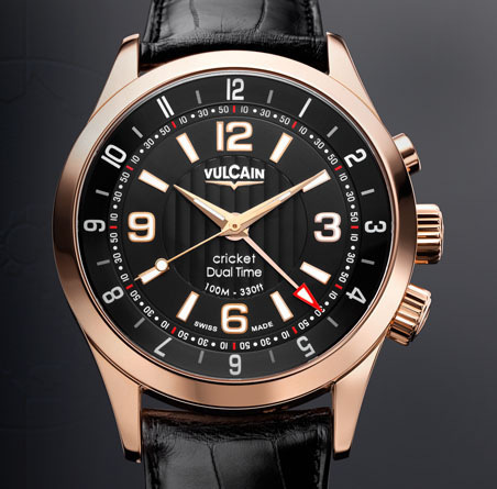 часы Vulcain Aviator Dual Time - Gold