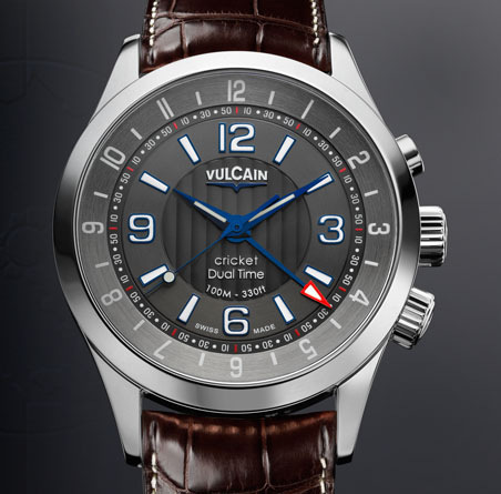 часы Vulcain Aviator Dual Time - Steel