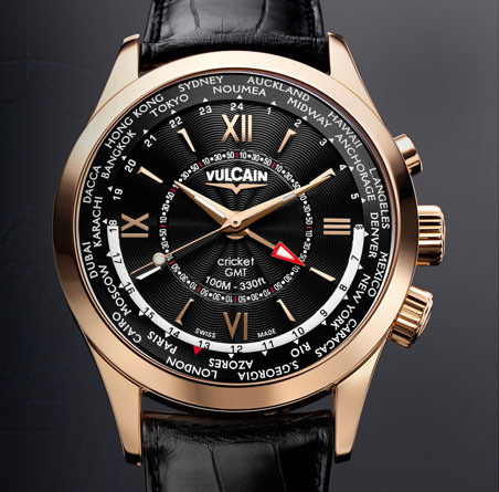 часы Vulcain Aviator GMT - gold
