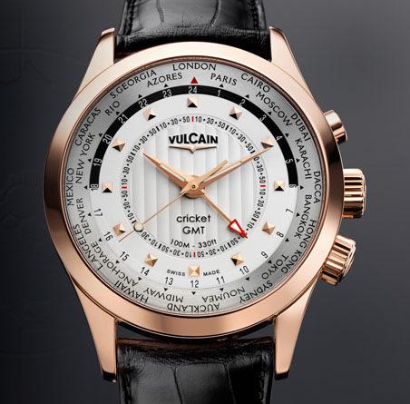 часы Vulcain Aviator GMT 2009 - gold