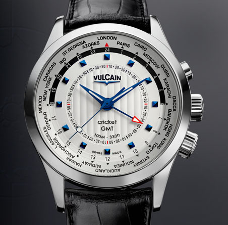 часы Vulcain Aviator GMT 2009 - steel