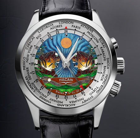 часы Vulcain Cloisonne Tigers