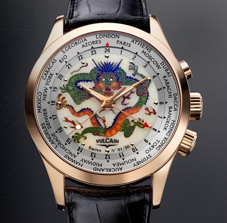 часы Vulcain Cloisonne The Dragon