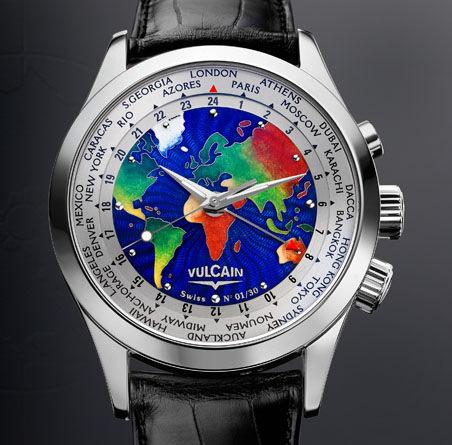часы Vulcain Cloisonne The World