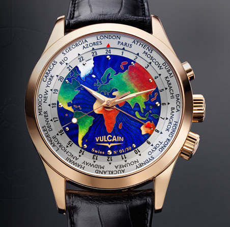 часы Vulcain Cloisonne The World