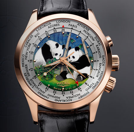 часы Vulcain Cloisonne The Pandas