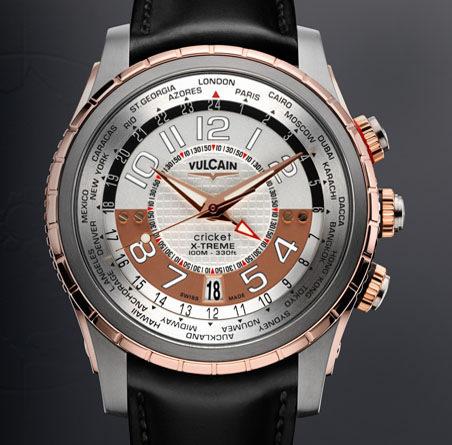 часы Vulcain GMT X-Treme Titanium & Gold