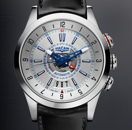 часы Vulcain Revolution Dual Time Automatic Steel