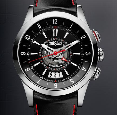 часы Vulcain Revolution Dual Time Automatic Steel