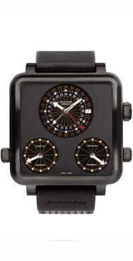 часы Glycine Airman 7 Plaza Mayor Titanium black DLC