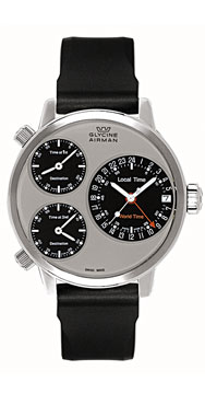 часы Glycine Airman 7 silver circle