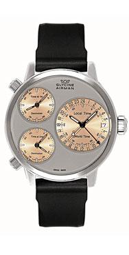 часы Glycine Airman 7 silver circle