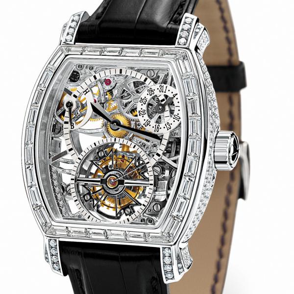 часы Vacheron Constantin Tonneau Tourbillon Haute Joaillerie Squelette