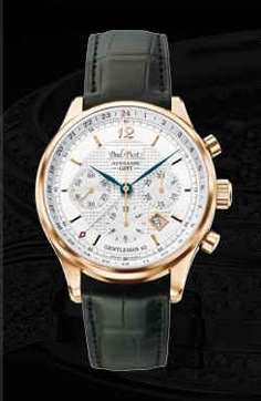 часы Paul Picot Chrono GMT Gold 42 mm