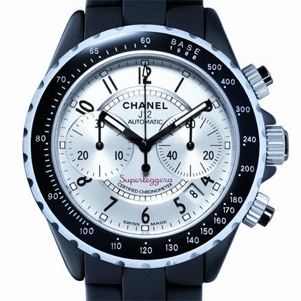 часы Chanel Chrono Superleggera céramique noire et aluminium