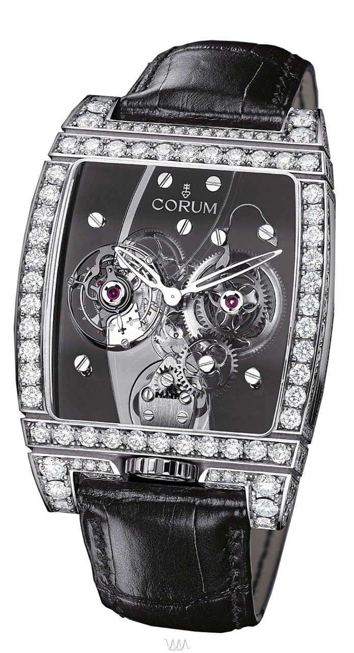 часы Corum Golden Tourbillon Panoramique WG Diamond Grey Limited 66