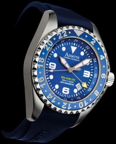 часы Azimuth Sea-Hum 3TZ (3Time Zone)