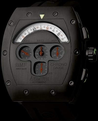 часы Azimuth Chrono Gauge BMF PVD