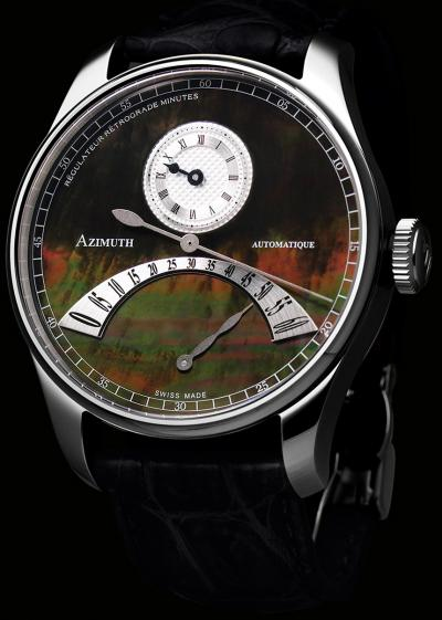 часы Azimuth Regulateur Retrograde Minutes Black Mother-of-Pearl