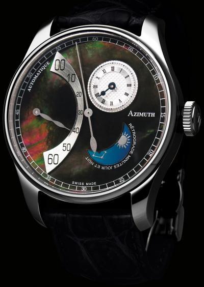 часы Azimuth Retrograde Minutes Jour et Nuit Black