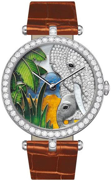 часы Van Cleef & Arpels African landscape Elephant Decor