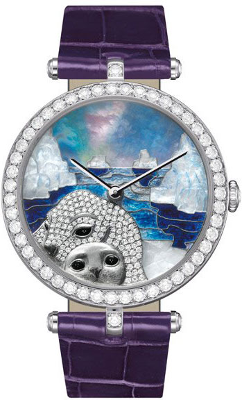 часы Van Cleef & Arpels Lady Arpels Polar landscape Seal Decor