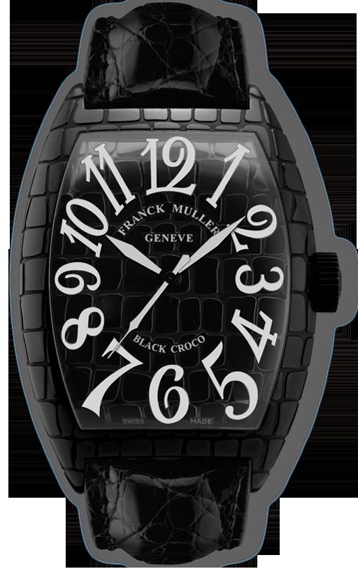 часы Franck Muller Black Croco