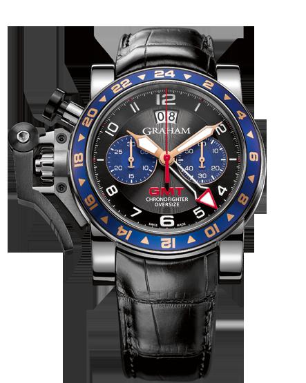 часы Graham CHRONOFIGHTER OVERSIZE GMT BLUE STEEL