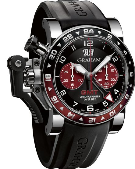 часы Graham CHRONOFIGHTER OVERSIZE GMT BORDEAUX STEEL