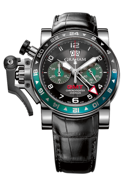 ���� Graham CHRONOFIGHTER OVERSIZE GMT BLACK BRG STEEL