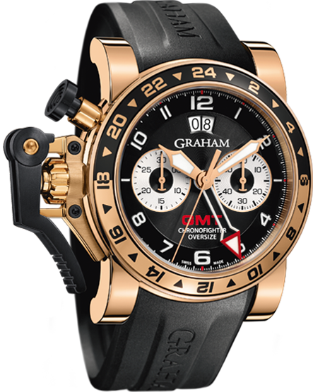 часы Graham CHRONOFIGHTER OVERSIZE GMT BLACK GOLD