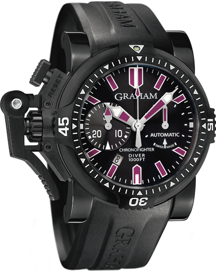 часы Graham Chronofighter Oversize DIVER DEEP PURPLE