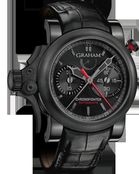 часы Graham Chronofighter Trigger Back in Black Rattrapante