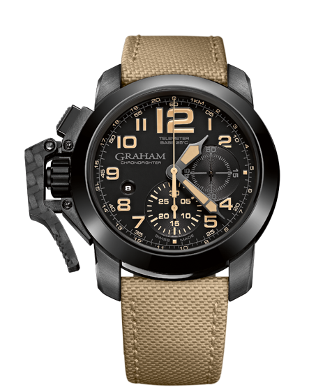 ���� Graham CHRONOFIGHTER OVERSIZE BLACK Sahara