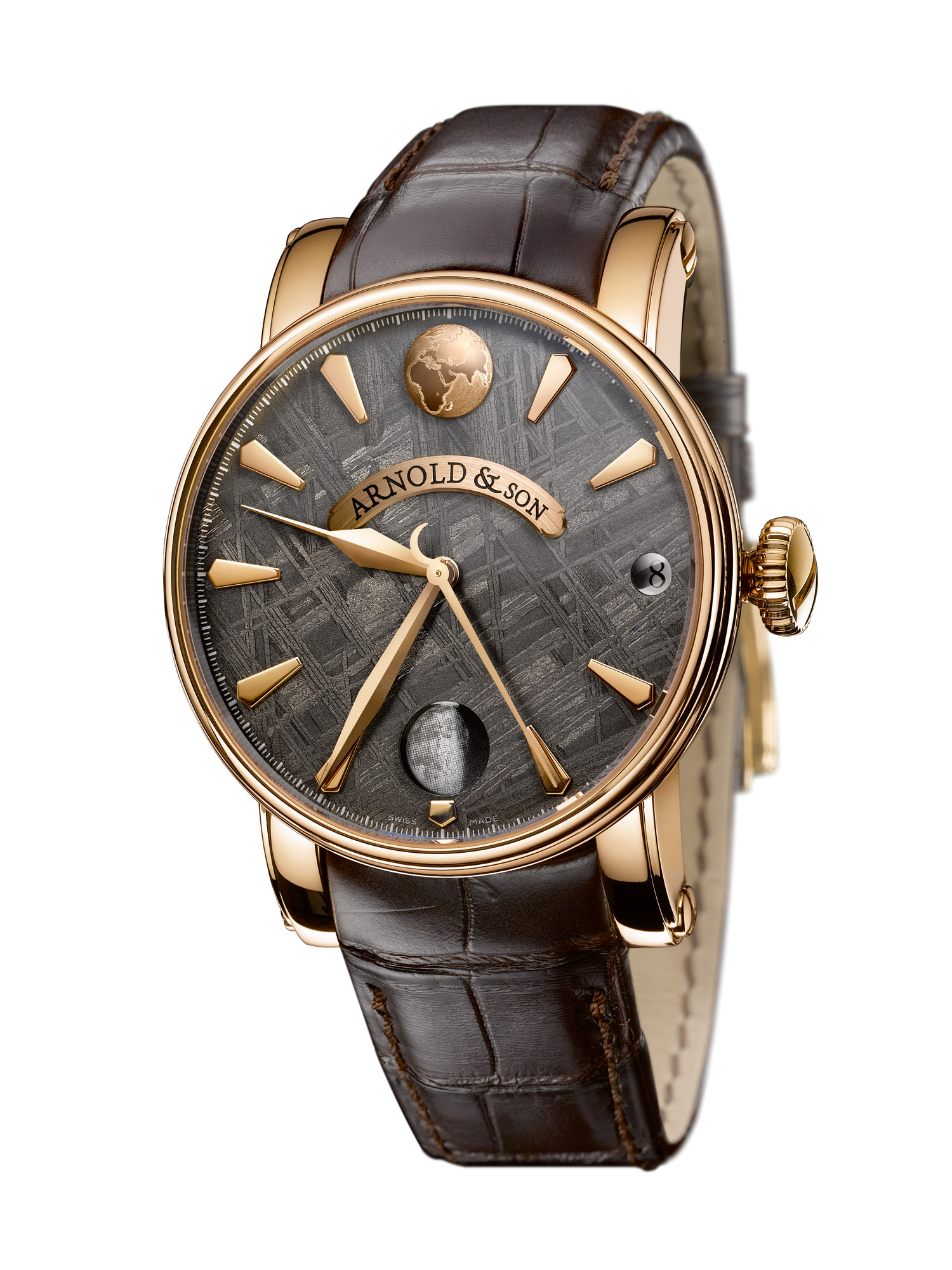 часы Arnold & Son True Moon Meteorite