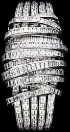 Limelight ribbon motif secret watch